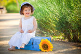 Happy child little toddler laughing — Stock fotografie