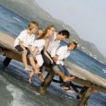 Happy family summer vacation — Stock Photo #6361873