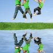 Happy kids jumping — Stock Photo #6950220