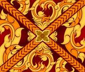 Thai art pattern style — Stock Vector