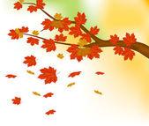 Arka plan sonbahar yaprakları — Stok Vektör