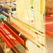 Stock Photo: Weaving loom