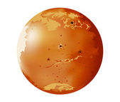 Mars planet — Stock Vector