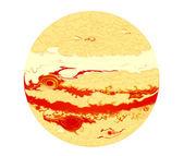 宇宙の惑星木星 — ストックベクタ