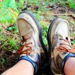 Hiking boots - Foto Stock