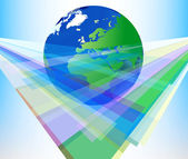 Radiant colors with global background — Stock Photo