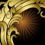Shape art style golden background — Stock Vector