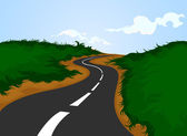 Landsväg — Stockvektor