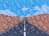 Bubble met de natuur — Stockvector