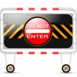 Stock vektor: Traffic sign with barrier