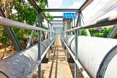 Water supply pipeline — Stock Photo