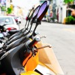 Stock Photo: Motorcycle rental