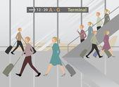 Terminal Airport — Stock Vector