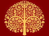 Gold Buddha tree — Stock Vector