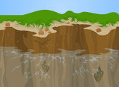 Erosion of Cliff — Stock Vector