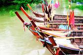 汽艇钓鱼 — 图库照片