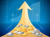 Growth market chart — Stock Vector