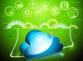 Cloud process in progress — Stock Vector