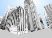 Townscape urban city — Stock Vector