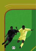 Calcio — Vettoriale Stock