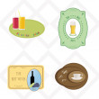Stock Vector: Set of vector stickers