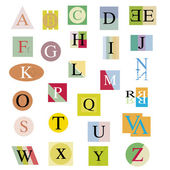 The original alphabet from bright abstract letters — Stock Vector