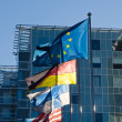 Fluttering flags of the countries of the European Union — Stock Photo