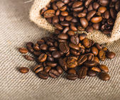 Roasted coffee beans, close-up — Stock Photo