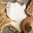 Stock Photo: Wheat ears on vintage background