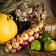 Still-life with vegetables in rural style — Stock Photo