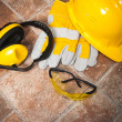 Safety gear kit close up — Stock Photo #14723449