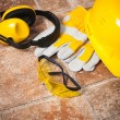 Safety gear kit close up — Stock Photo #14723451