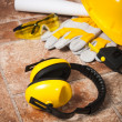 Safety gear kit close up — Stock Photo #14723459