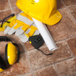 Safety gear kit close up — Stock Photo #14723471