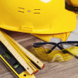 Safety gear kit close up — Stock Photo #14723769