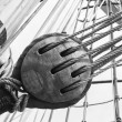 Rigging of ancient sailing vessel — Stock Photo #15414293