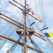 Mast of an ancient sailing vessel - Stock Photo