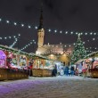 Stock Photo: Christmas market in Tallinn