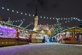 The christmas market in Tallinn — Stock Photo