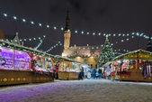 The christmas market in Tallinn — Stock Photo