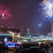 New year\'s fireworks in Tallinn — Stock Photo