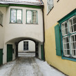 Court yard of Holy Spirit Church in Tallinn — Stock Photo