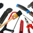 Set of working tools, it is isolated on a white background — ストック写真
