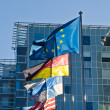 Fluttering flags of the countries of the European Union — Stock Photo #28639987