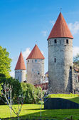 Tallinn, towers of the fortress wall — Stock Photo