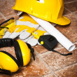 Safety gear kit close up — Stock Photo #28640599