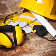 Safety gear kit close up — Stock Photo #28641197