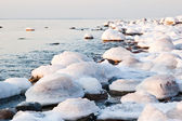 Baltic Sea coast in winter — Stock Photo