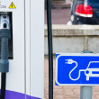 Charging station for electric cars, close-up — Stock Photo