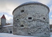 Medieval tower Thick Margarita in Tallinn — Stock Photo